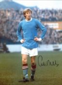 Colin Bell Manchester City Signed 16 x 12 inch football photo. Good condition. All autographs come
