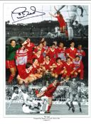 Phil Neal collage Liverpool Signed 16 x 12 inch football photo. Good condition. All autographs