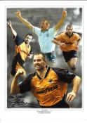 Steve Bull Wolves Signed 16 x 12 inch football photo. Good condition. All autographs come with a