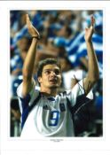 Angelos Charisteas Greece Signed 16 x 12 inch football photo. Good condition. All autographs come