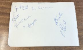 Busby Babes Liam Whelan and Duncan Edwards signed autograph album page