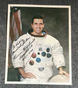 Apollo 17 Moonwalker Harrison Schmitt signed photo