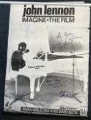 Beatles related multiple signed John Lennon poster.
