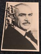 James Bond Sean Connery signed 6 x 4 inch b/w photo