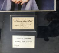 The Carpenters framed and mounted autographs
