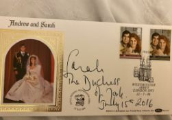 Royal Wedding cover signed by Sarah Duchess of York.
