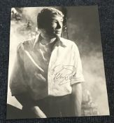 Peter O'Toole signed 10 x 8 inch b/w photo in early years.