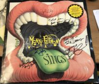 Monty Python cast multiple signed Sings 33rpm Record Sleeve