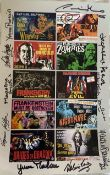 Horror movie 14x10 inch photo signed by ELEVEN horror movie actresses