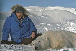 David Attenborough signed 12 x 8 inch colour photo with Polar Bear