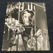Peter Cushing signed 10 x 8 inch b/w photo