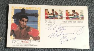Muhammad Ali and Harry Carpenter signed US boxing FDC