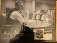 Gene Krantz NASA Apollo mission control signed display.