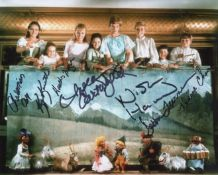 The Sound of Music photo signed by all the kids.