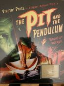 Vincent Price signed Superb 19x15 inch display