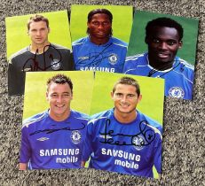 Chelsea Football collection 5 signed 6x4 photos includes Stamford Bridge Legends John Terry, Frank