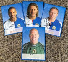 Blackburn Rovers collection 4 signed 6x4 colour photos 2005/2006 season includes Craig Bellamy,
