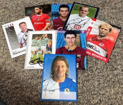 Football collection 8 signed 6x4 assorted photos from players from the English Premier league from