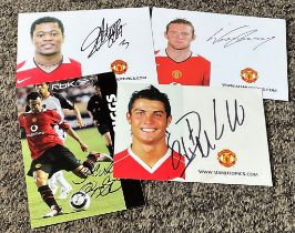 Manchester United collection 4 signed 6x4 promo photos includes Cristiano Ronaldo, Ryan Giggs,