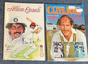 Cricket collection 2 items includes Allan Lamb signed benefit brochure 1988. Signed twice on the