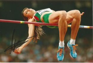 Olympics Mirela Demereva signed 6x4 colour photo of the silver medallist in the women s high jump