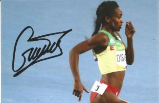 Olympics Genzebe Dibabe signed 6x4 colour photo of the silver medallist in the women s athletics