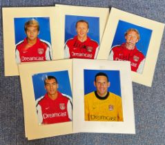 Arsenal collection 6, 10x8 signed mounted colour photos includes Richard Wright, Mathew Upson ,