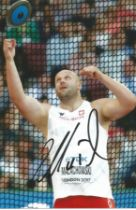 Olympics Piotr Malachowski signed 6x4 colour photo of the double silver medallist in the Mens Discus