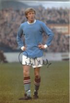 Football Colin Bell signed 12x8 colour photo pictured while playing for Manchester City. Good