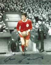 Football Ron Yeats signed 10x8 colourised photo pictured leading Liverpool out at Anfield. Good