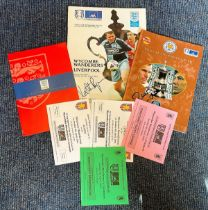 Football Wycombe Wanderers collection commemorating there run to the FA Cup 2001 Semi Final includes