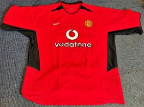 Football Alex Ferguson signed Manchester United home shirt. Good condition. All autographs come with