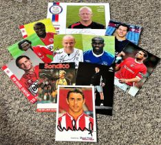 Football collection 11 6x4 assorted photos from players that have all played in Englands premier