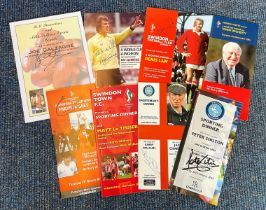 Sport Collection 8 assorted signed Dinner Menus includes legends such as Tommy Docherty, Emlyn