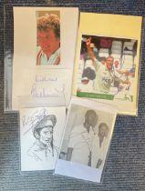 Sport Collection includes 4 items Lester Piggot signed 6x4 print West Indian cricket legend Joel