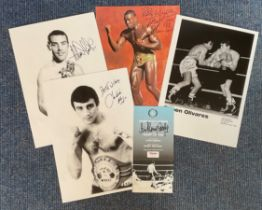 Boxing Collection 6 items includes some legends of the ring such as Alan Minter , Charlie Magri