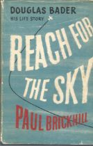 Douglas Bader his life storey Reach for the Sky by Paul Brickhill. Unsigned hardback book with