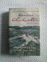 The Autobiography of Francis Chichester The Lonely Sea and The Sky Hardback book with dust cover