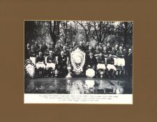 Football mounted black and white photo of Arsenal Football Club taken in the 1930's with Herbert