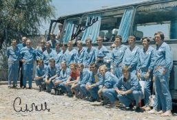 Autographed COLIN BELL 12 x 8 photo - Col, depicting a wonderful image of the England squad posing
