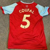 Vladimir Coufal signed West Ham United replica shirt. Good condition. All autographs come with a