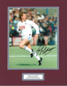 Football Frank McAvennie 14x12 mounted colour photo pictured in action for West Ham United. Good