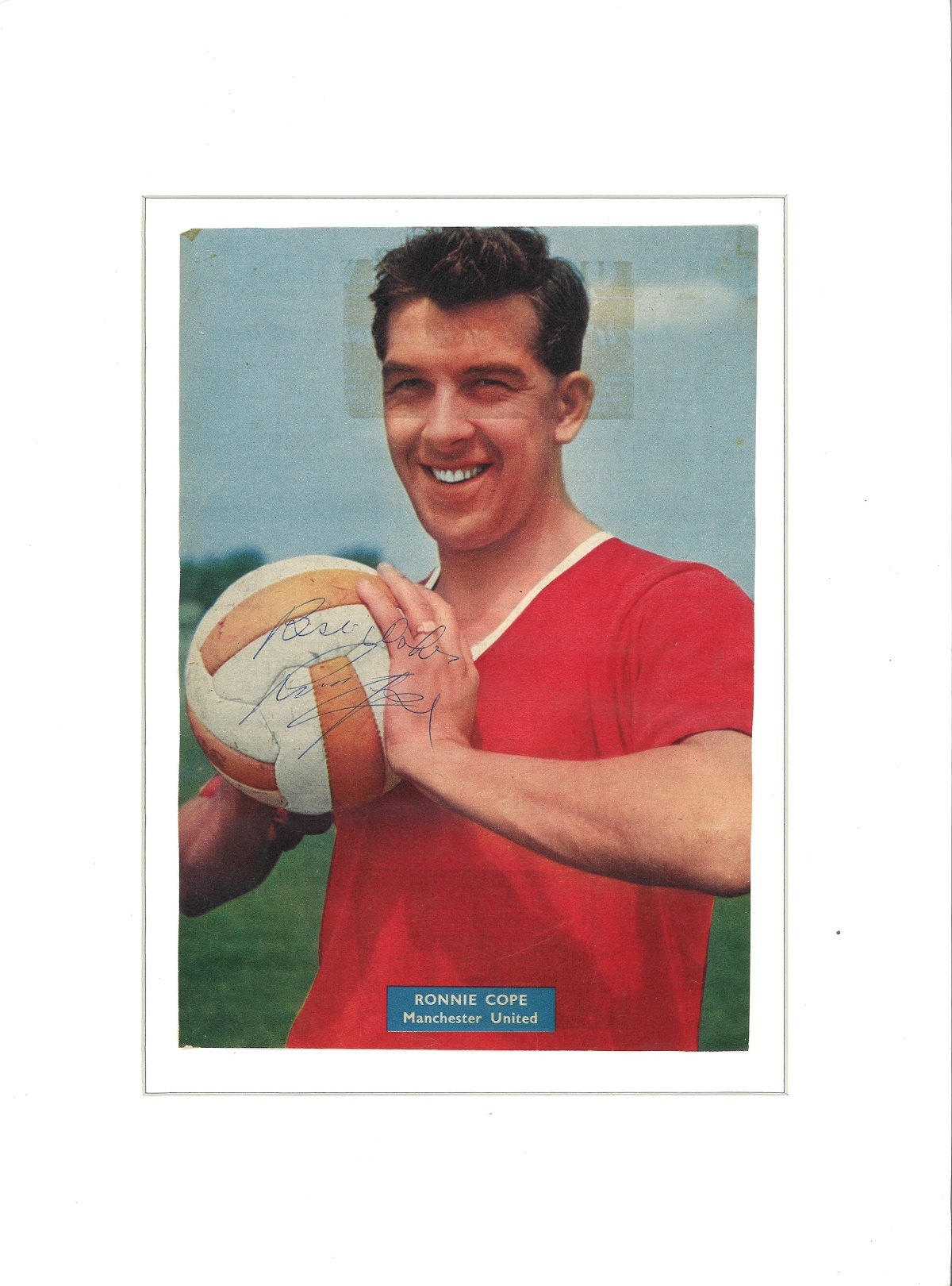 Football Ronnie Cope signed 16x12 mounted colour magazine photo. Ronald Cope (5 October 1934 - 27