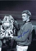 Gary Sprake 1969: Autographed 16 X 12 Photo, Depicting Leeds United Goalkeeper Gary Sprake Posing