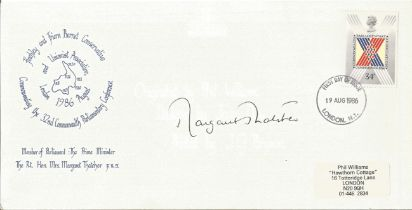 Prime Minister Margaret Thatcher signed 1996, 32nd Commonwealth Parliamentary Conference FDC. Good