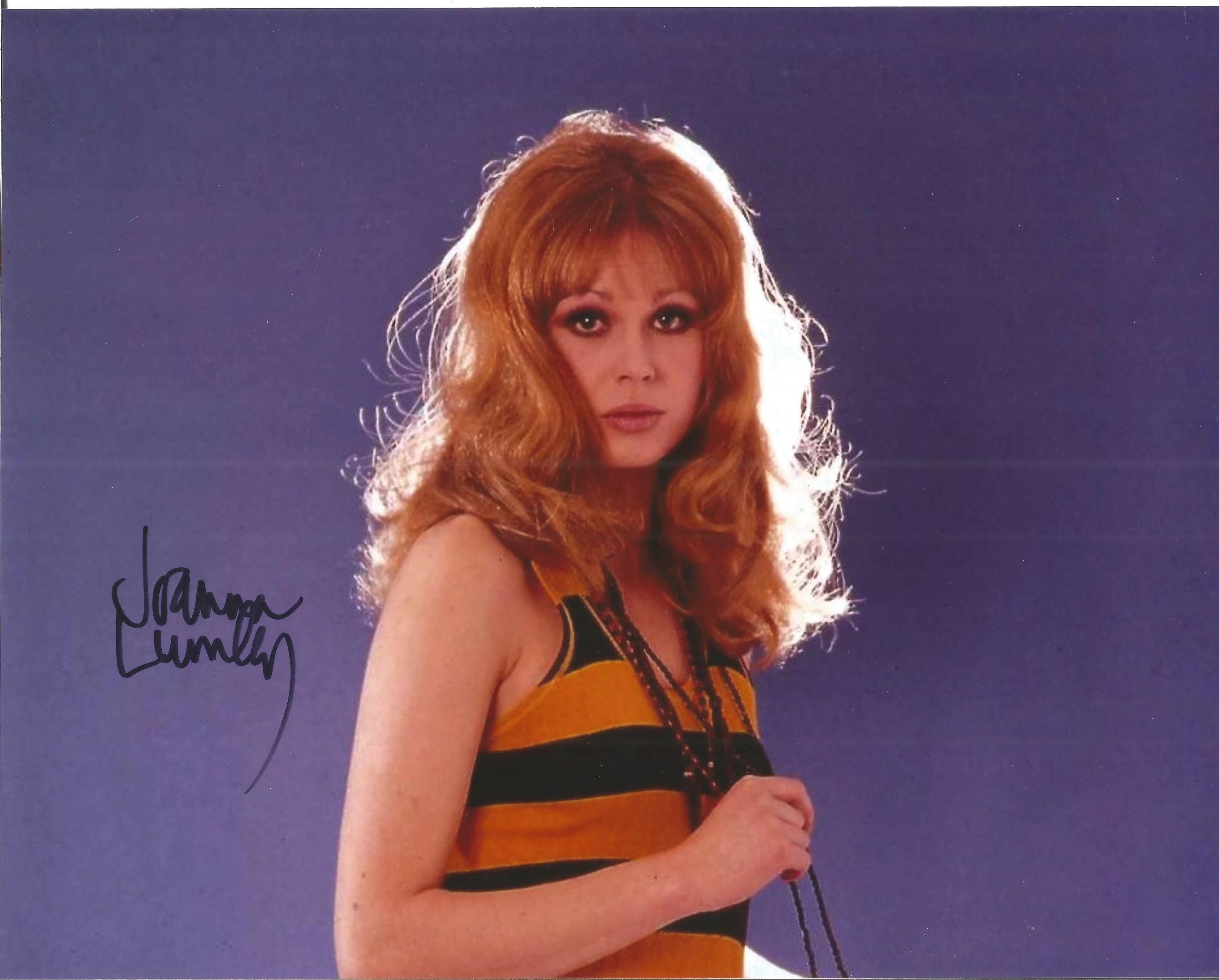 Joanna Lumley signed 10x8 colour image. Joanna is well known for her roles as a British Actress on