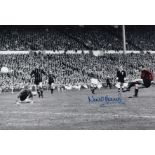 Autographed NEIL YOUNG 12 x 8 photo - Colorized, depicting Young scoring the winning goal against