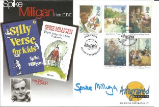 Spike Milligan signed Autographed Edition FDC commemorating a great actor, comedian, writer, poet,