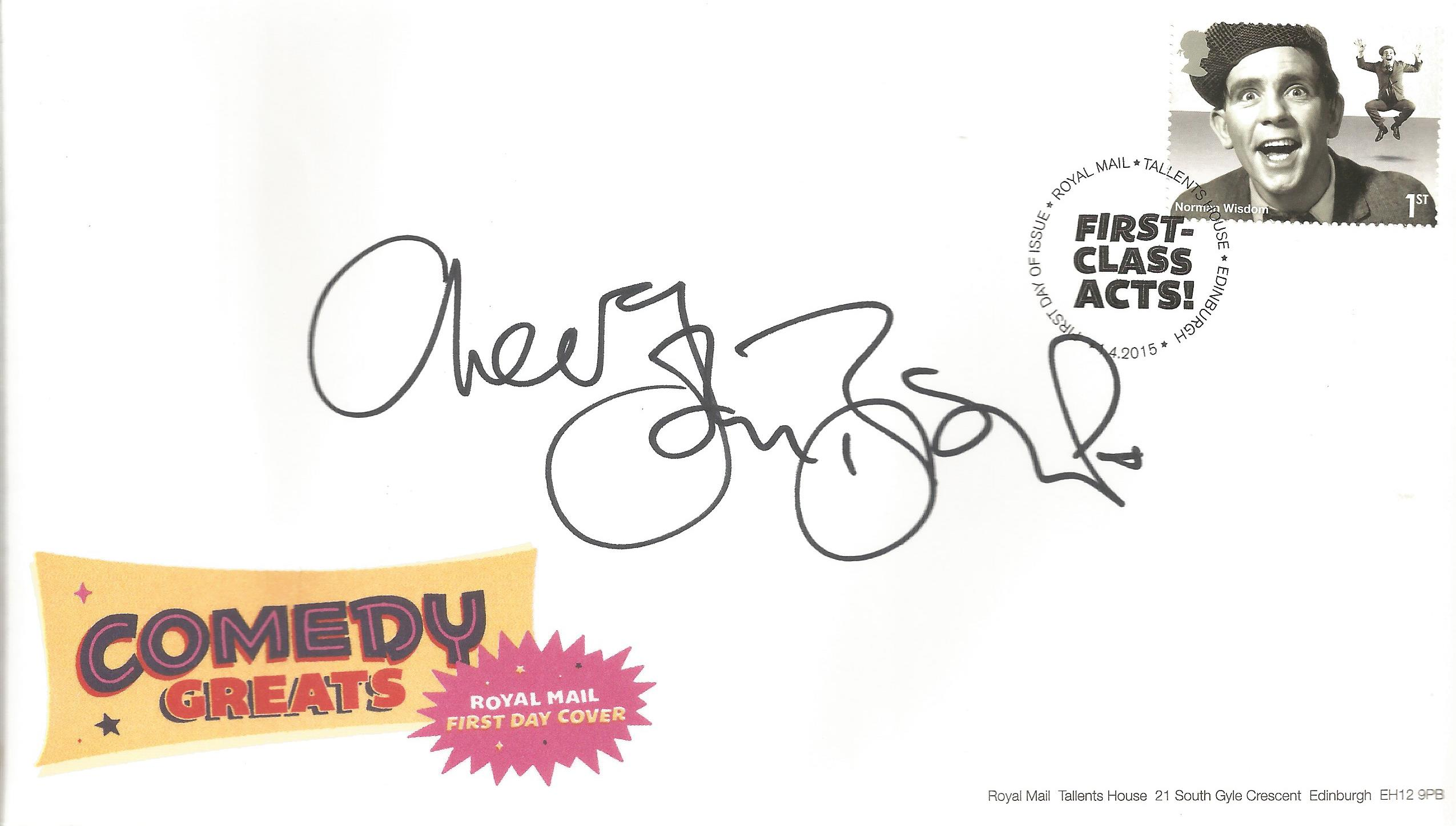 John Bishop signed FDC celebrating the Comedy Greats, First Class Acts. Post marked 14th April 2015.