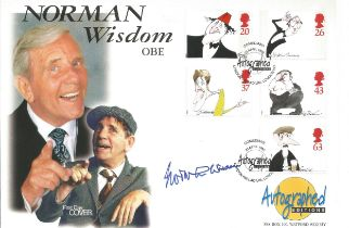 Norman Wisdom signed Autographed Edition FDC commemorating this great comedy legend. This